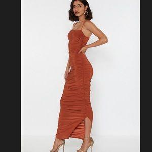 Nasty Gal Dresses - Ruche Midi Dress